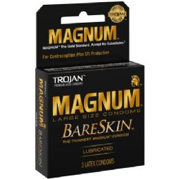 12 Units of Trojan 3's Magnum Bare Skin - Personal Care Items
