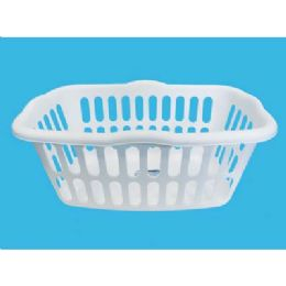 12 Units of LAUNDRY BASKET WHITE/BLACK  ASSORTED 24X17X10 - Laundry Baskets & Hampers
