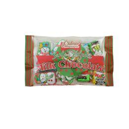 24 Units of Palmer Milk Chocolate Christmas Santa Helper 4.5 oz - Christmas Decorations