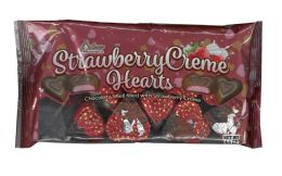 24 Units of STRAWBERRY CREME HEARTS 4.5 OZ - Valentines