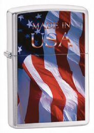 Zippo Made In Usa Brushed Chrome - Lighters