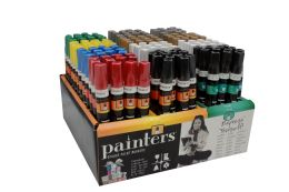 140 Units of Painters Markers Pdq Assorted (black White Gold Silver Green Yellow Blue Red) - Markers