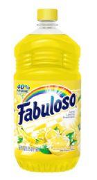 6 Units of Fabuloso 56 Oz Lemon - Cleaning Products