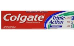 24 Units of Colgate T/paste 8 Oz Triple Action - Toothbrushes and Toothpaste