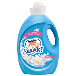 4 Units of SUAVITEL FABRIC SOFTENER 135 OZ FIELD OF FLOWERS - Laundry Detergent