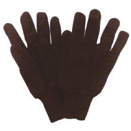 12 Units of Work Gloves Brown Jersey - Working Gloves