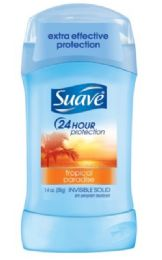 12 Units of SUAVE SOLID TROPICAL PARADISE 1.4 OZ 24 HOUR PROTECTION - Deodorant