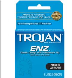 12 Units of Trojan 3's Lubricated/blue - Personal Care Items