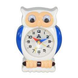 12 Units of Owl Design Alarm Clock In Box Battery Operated Size 3.5 X 2.5 - Clocks & Timers
