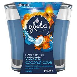 6 Units of Glade 3.4oz Candle Volcanic Coconut - Air Fresheners