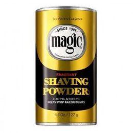 6 Units of MAGIC SHAVE POWDER GOLD 4.5 OZ - Shaving Razors