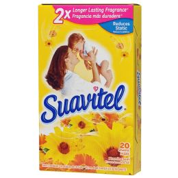 15 Units of SUAVITEL DRYER SHEETS 20CT MORNING SUN - Laundry Detergent