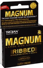 12 Units of Trojan 3's Magnum Ribbed - Personal Care Items