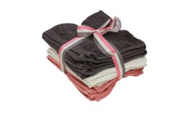 24 Units of Wash Cloth 6pk 13 X 13 Assorted Colors - Bath Towels