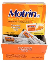 50 Units of MOTRIN TABLETBOX - Pain and Allergy Relief