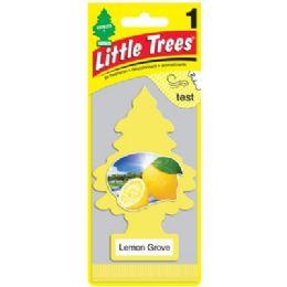 24 Units of LITTLE TREE LEMON CAR FRESHENER 1'S - Air Fresheners
