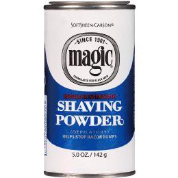 6 Units of MAGIC SHAVE POWDER BLUE 4.5 OZ - Shaving Razors