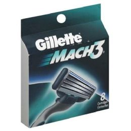 10 Units of Gillette Mach 3 Cartridge 8's - Shaving Razors