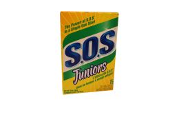 6 Units of S.O.S STEEL WOOL SOAP PADS JUNIORS 15CT - Scouring Pads & Sponges