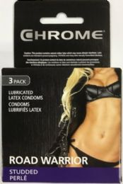 Chrome Comdom 3 Ct Assorted (road Warrior Studded) 10 Bundle Of 12 - Pain and Allergy Relief