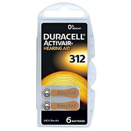 36 Units of DURACELL HEARING AID 312 - Batteries