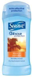 12 Units of SUAVE-half I/S 2.6oz- TROPICAL PARADISE - Deodorant
