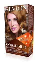 12 Units of COLOR SILK #57 LIGHTEST GOLDEN BROWN - Hair Products