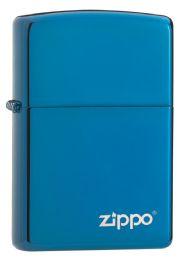 ZIPPO HIGH POLISH BLUE LASER ENGRAVE - Lighters