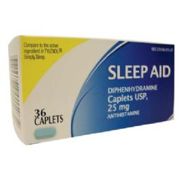 24 Units of Sleep Aid 25mg 36caplets - Pain and Allergy Relief