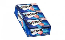 12 Units of TRIDENT GUM 12/12'S PERFECT PEPPERMINT - Food & Beverage