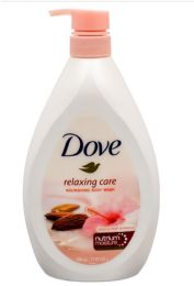 12 Units of DOVE BODYWASH 800 ML ALMOND WITH PUMP 27.05 OZ - Soap & Body Wash