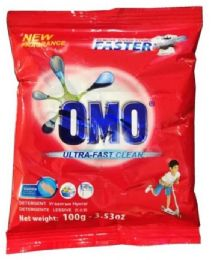 140 Units of Omo 100 Gm Powder Laundry Detergent Ultra Clean - Laundry Detergent