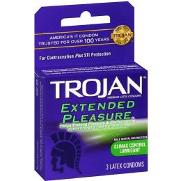 12 Units of Trojan 3's Extended Pleasure - Personal Care Items