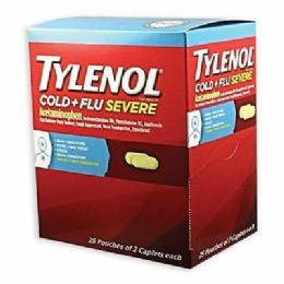 25 Units of TYLENOL COLD AND FLU 2PK BOX - Pain and Allergy Relief
