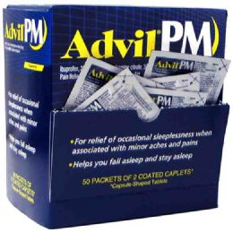 50 Units of ADVIL PM 2PK BOX - Pain and Allergy Relief