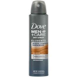 6 Units of Dove Spray 150 Ml Talc Mineral And Sandalwood - Deodorant