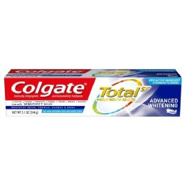 12 Units of Colgate 5.8 Oz T/paste Total Advance Whitening Paste (can Not Be Broken) (6x2pk)x2) - Toothbrushes and Toothpaste