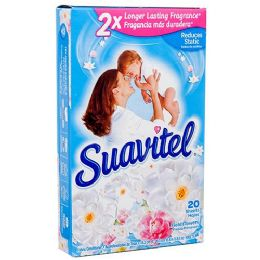 15 Units of Suavitel Dryer Sheets 20ct Field Of Flowers - Laundry Detergent