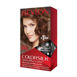 12 Units of COLOR SILK #46 MEDIUM GOLDEN MAH BROWN - Hair Products