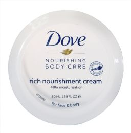 48 Units of DOVE 50 ML NOURISHING BODY CREAM 1.69 OZ (BLUE) - Skin Care