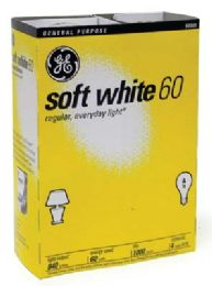 12 Units of Ge Lightbulb 60w Soft White 4pk - Lightbulbs