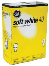 12 Units of Ge Lightbulb 40w Soft Wht 4pk - Lightbulbs