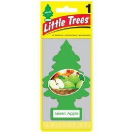 24 Units of Little Tree Green Apple Car Freshener 1's - Air Fresheners
