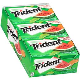 12 Units of TRIDENT GUM 12/14'S WATERMELON TWIST - Food & Beverage