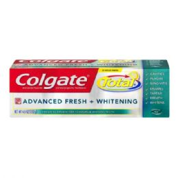 24 Units of Colgate Toothpaste Total 4 Oz Advance Fresh And Whitening Gel - Toothbrushes and Toothpaste