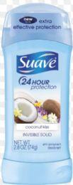 12 Units of SUAVE-half I/S 2.6OZ - COCONUT KISS - Deodorant