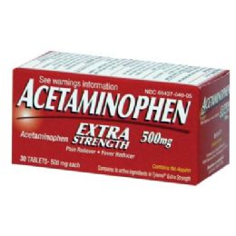 12 Units of ACETAMINOPHEN 60 CT EXTRA STRENGTH - Pain and Allergy Relief