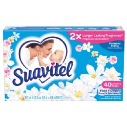 12 Units of SUAVITEL DRYER SHEETS 40CT FIELD OF FLOWERS - Laundry Detergent