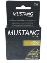 12 Units of Mustang Large Black 3pk - Personal Care Items