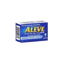 12 Units of Aleve Tabs 12/24's - Pain and Allergy Relief
